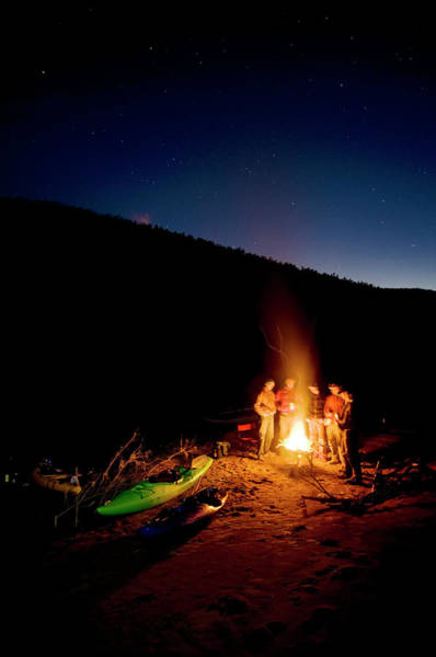 Wall Art - Photograph - River Runners Huddle Around The Fire by Kyle George