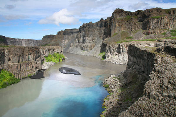 Mixing Photograph - River Sediment Mixing In Iceland Canyon by Feargus Cooney