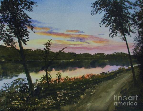 Wall Art - Painting - River Sunset by Martin Howard