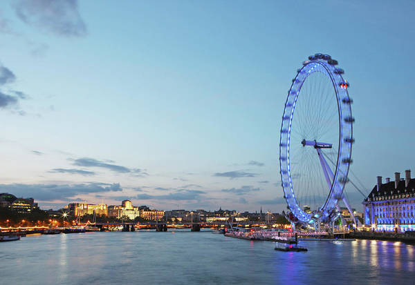 South Bank Photograph - River Thames At Dusk by Richard Newstead