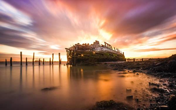 Medway Wall Art - Photograph - River Thames Ship Wreck by Ian Hufton
