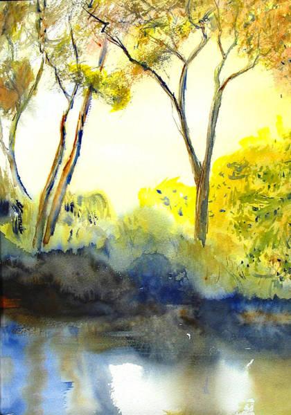 Painting - River Trees II by Peter Senesac
