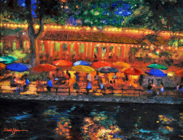 Painting -  Da190 River Walk By Daniel Adams by Daniel Adams