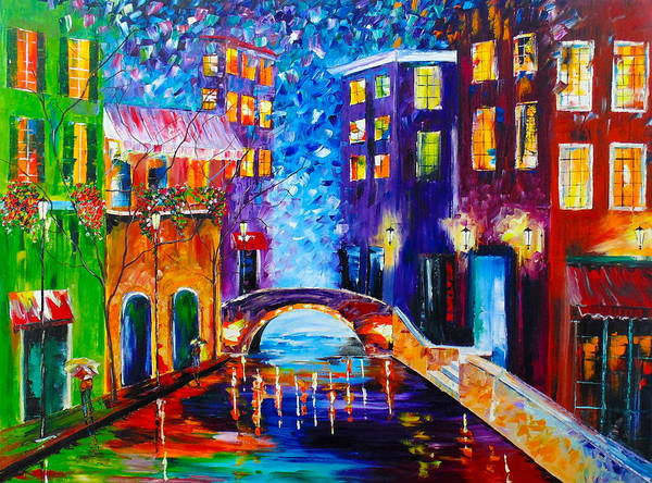River Walk Art Print