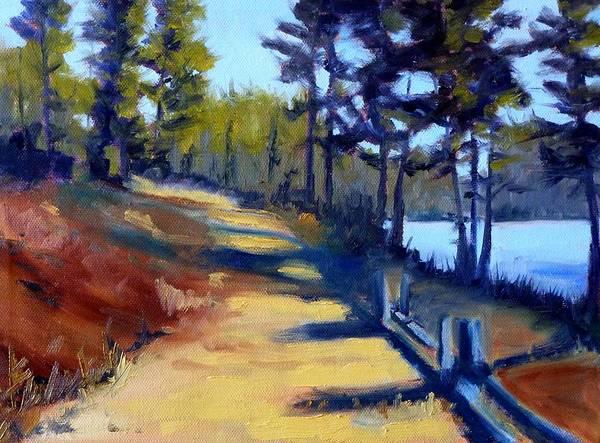 Central Oregon Wall Art - Painting - River Walk by Nancy Merkle
