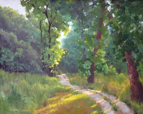 Wall Art - Painting - Riverbend Park Morning by Armand Cabrera