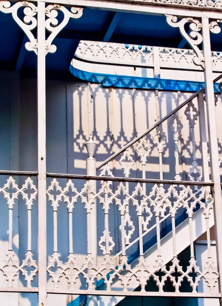 Riverboat Railings Art Print