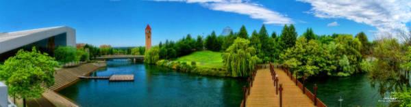 Expo 74 Photograph - Riverfront Park Clean Pano by Dan Quam