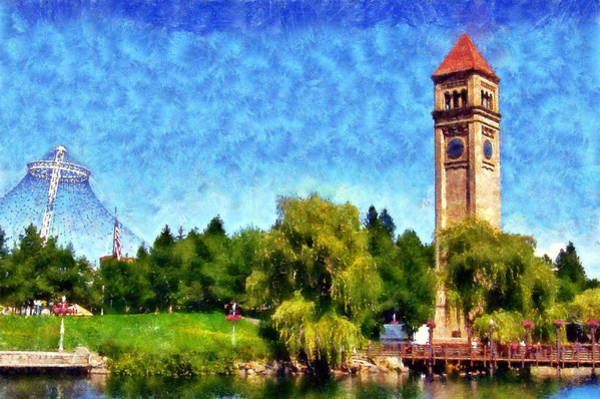 Spokane Digital Art - Riverfront Park by Kaylee Mason