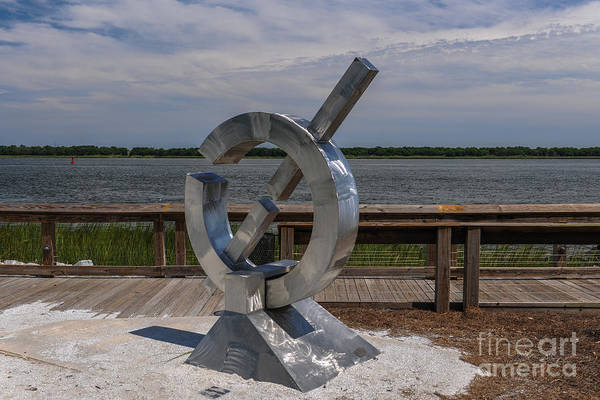 Photograph - Riverfront Sculpture by Dale Powell