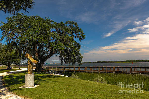 Photograph - Riverfront Statue by Dale Powell