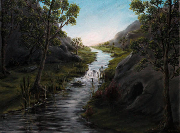 Bullrush Painting - Rivers In High Places by Kory Kiewitz