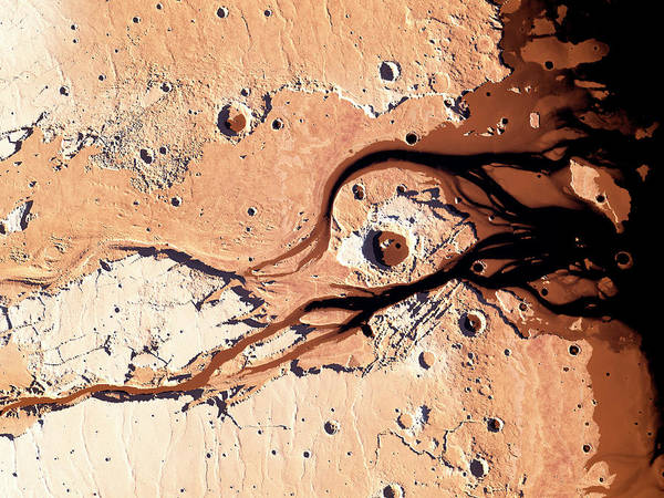 Martian Wall Art - Photograph - Rivers On Mars by Kees Veenenbos/science Photo Library