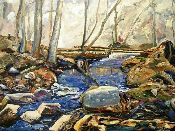 Painting - River's Walk  by Ray Khalife