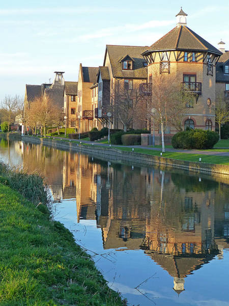 Photograph - Riverside Home Reflections Vertical by Gill Billington