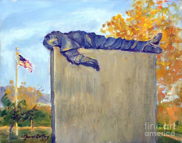 Painting - Riverside National Cemeter Veterans Memorial by Joan Coffey