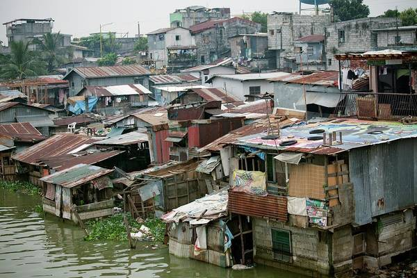 Developing Country Photograph - Riverside Slums by Jim Edds/science Photo Library