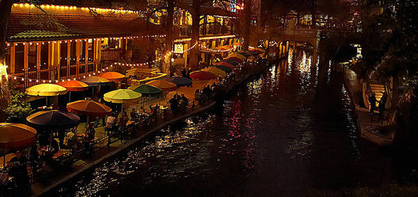 San-antonio Photograph - Riverwalk Night by Mary Jo Allen
