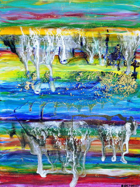 Painting - Rivulets And Rafts by Regina Valluzzi