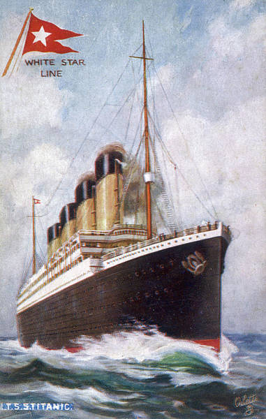 Wall Art - Drawing - Rms Titanic, Passenger Liner by Mary Evans Picture Library