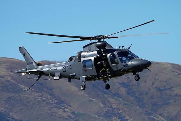 Wall Art - Photograph - Rnzaf Augustawestland A109 Helicopter by David Wall