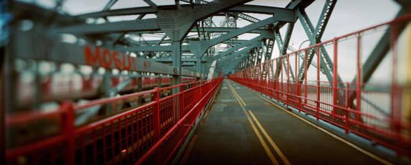 Williamsburg Bridge Photograph - Road Across A Suspension Bridge by Panoramic Images