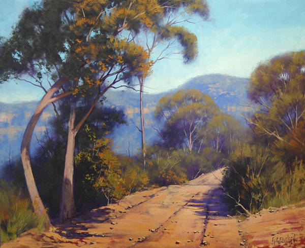 Three Sisters Wall Art - Painting - Road Along Narrow Neck Katoomba by Graham Gercken