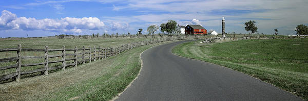 Gettysburg Battlefield Photograph - Road At Gettysburg National Military by Panoramic Images