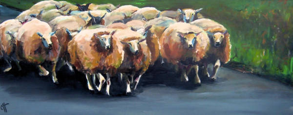 Wall Art - Painting - Road Block by Cari Humphry