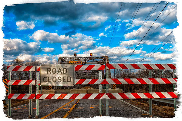 Photograph - Road Closed by Robert FERD Frank