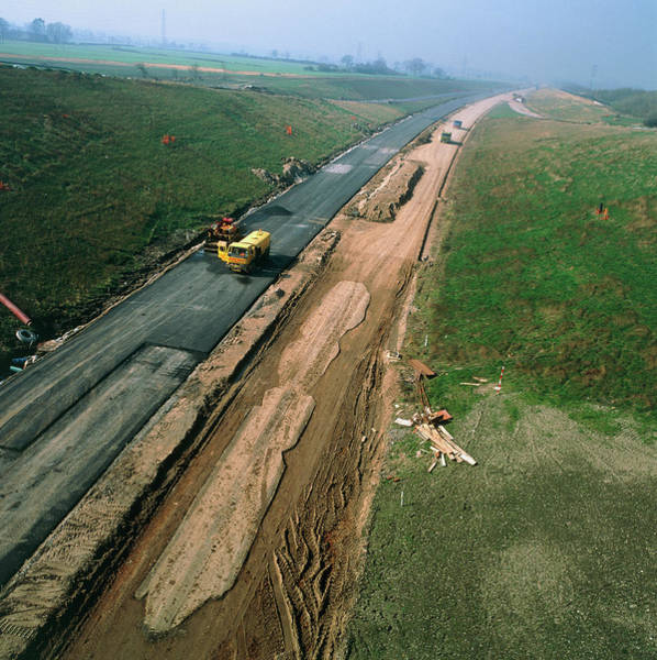 Laying Photograph - Road Construction by Chris Knapton/science Photo Library