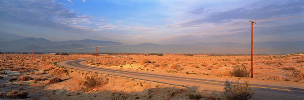 Thoroughfare Photograph - Road Desert Springs Ca by Panoramic Images