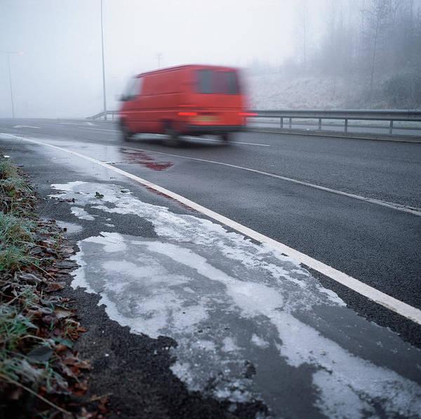 Road Ice Art Print
