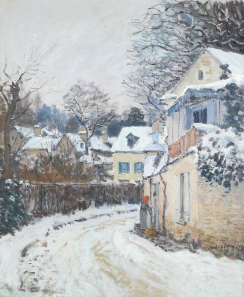 Painting - Road Louveciennes by Alfred Sisley
