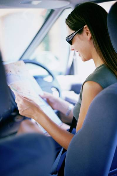 Road Map Photograph - Road Navigation by Ian Hooton/science Photo Library