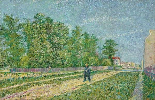 Spade Painting - Road On The Edge Of Paris by Vincent Van Gogh