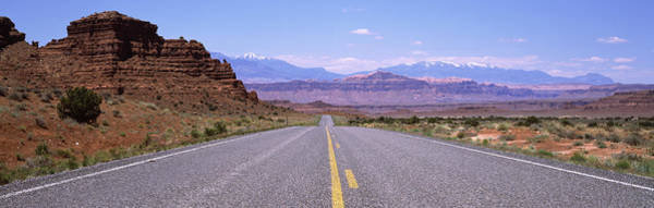 Peacefulness Photograph - Road Passing Through A Landscape, Utah by Panoramic Images