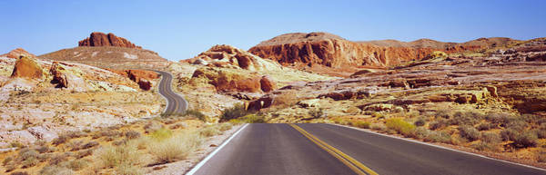 Valley Of Fire Photograph - Road Passing Through The Valley Of Fire by Panoramic Images