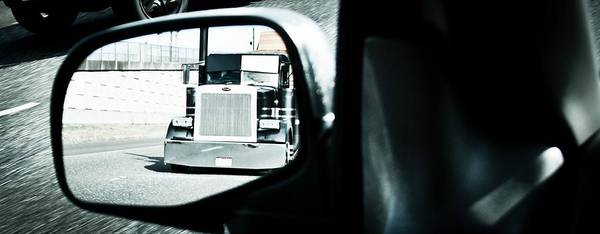Semi Truck Photograph - Road Rage by Aaron Berg
