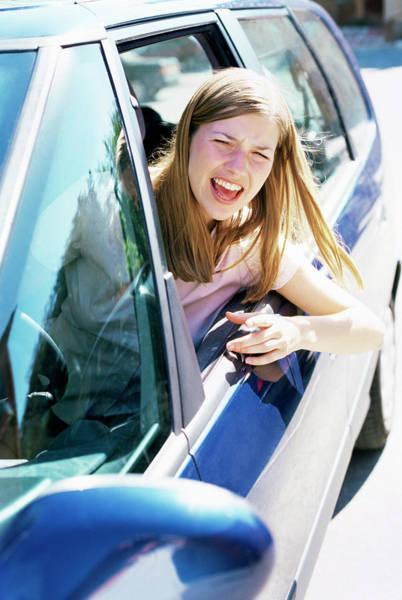 Passenger Car Photograph - Road Rage by Ian Hooton/science Photo Library