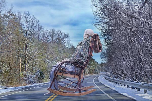 Rocking Chair Wall Art - Photograph - Road Rocker by Betsy Knapp