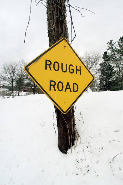 Notice Photograph - Road Sign by Jim Reed/science Photo Library