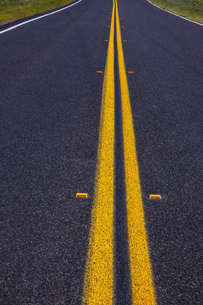Thoroughfare Photograph - Road Stripe  by Garry Gay