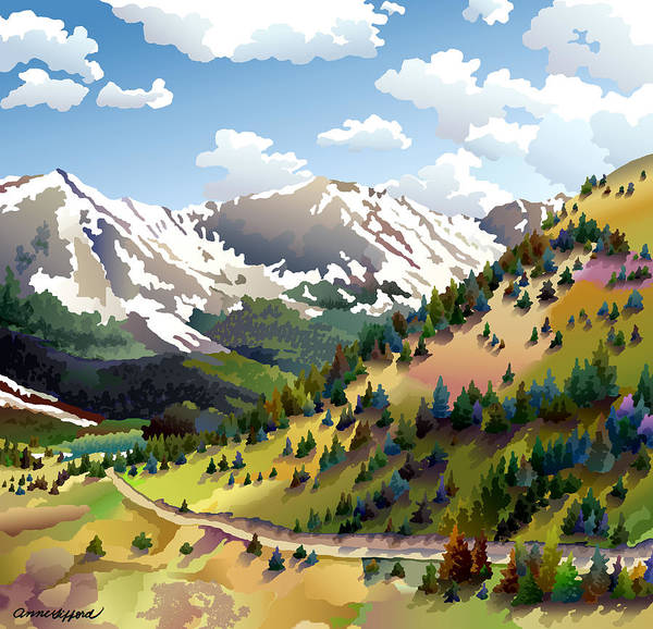 Colorado Wall Art - Digital Art - Road To Alma by Anne Gifford