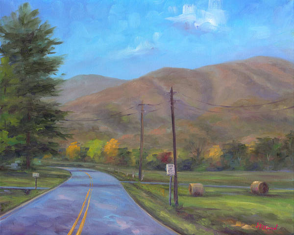 Wall Art - Painting - Road To Cold Mountain by Jeff Pittman