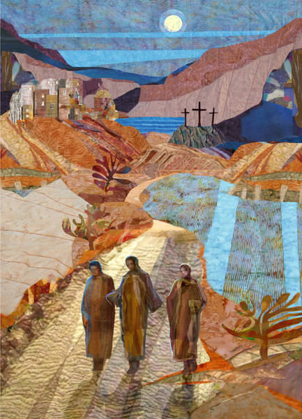 Holy Spirit Painting - Road To Emmaus by Michael Torevell