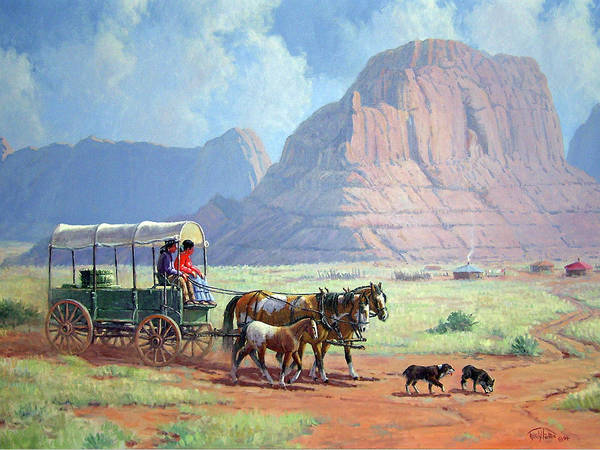 Wall Art - Painting - Road To Kayenta by Randy Follis
