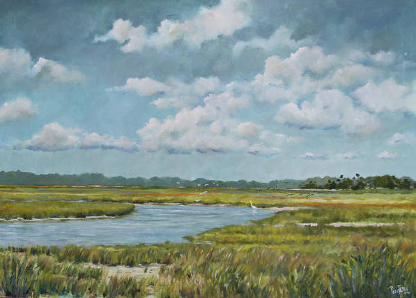 Sand Creek Painting - Road To Kiawah by Peggy Ellis