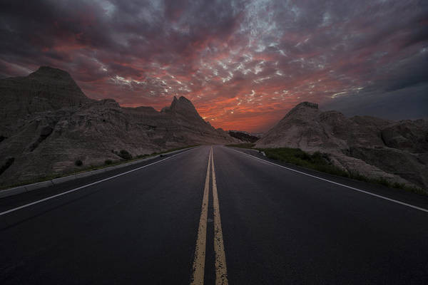 Photograph - Road To Nowhere Badlands by Aaron J Groen