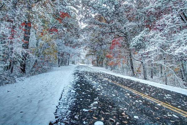 Photograph - Road To Snow On The Blue Ridge Parkway by Carol Montoya